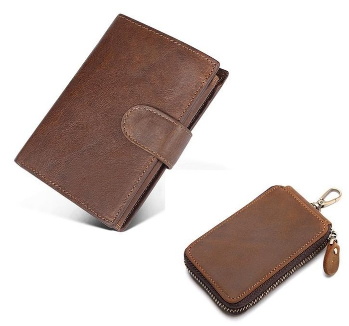 皮夾 短夾 鑰匙包 真皮皮夾 配 真皮鑰匙包 JY 2063K013【FQ包包】