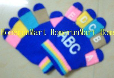 GC2英文5-10歲兒童手套一雙價 美觀舒適兒童魔術手套 針織手套羊毛手套 舒適時尚保暖六種顏色編織兒童全指手套