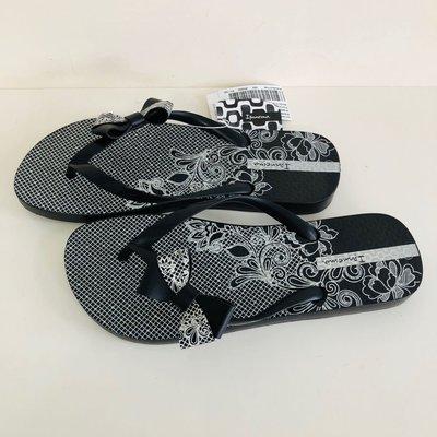 《現貨》Ipanema 女生 拖鞋 巴西尺寸36(巴西洛麗塔花園 人字夾腳拖鞋-黑色)