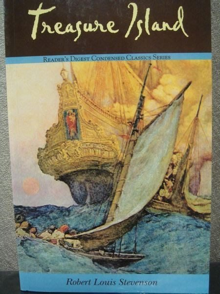 全新經典小說【Treasure Island】金銀島濃縮版,羅勃史帝文生著,低價起標無底價!免運費!