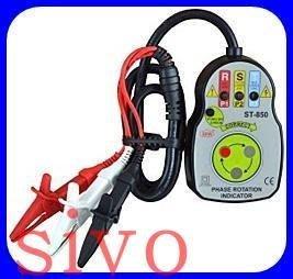 ☆SIVO電子商城☆台灣製SEW ST-850 接觸式檢相計(碟式) 相序表 檢相計.檢相表 免電池 轉盤式~