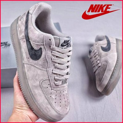 NIKE AIR FORCE 1 X REIGNING CHAMP AA1117-118衛冕冠軍聯名 低筒灰白情侶板鞋