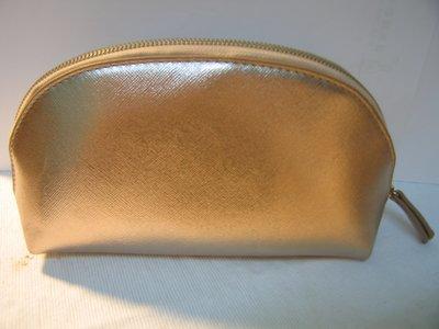 優雅 多層收納 雙拉鍊玫瑰金化妝包 收納包     New golden double zipper bag