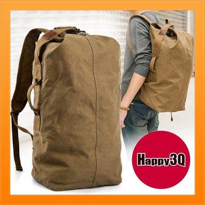 大容量休閒包軍旅包後背包素色包輕便簡單...