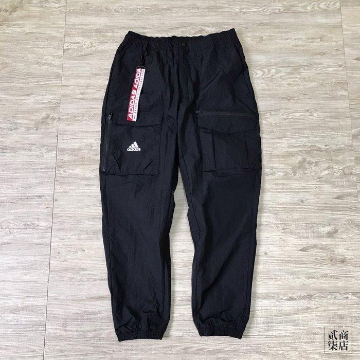(貳柒商店) adidas CNY Pants JC 男款 黑色 工裝 長褲 防風防潑水 過年 休閒 FM9285