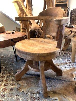 老柚木旋轉椅- Swivel Chair