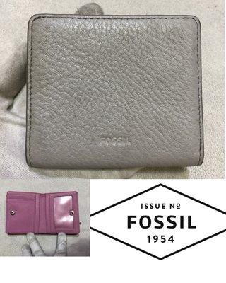 低價起標~ 美國老牌FOSSIL 皮革短夾 牛皮真皮皮夾 收納袋 零錢袋 似Bally芙拉 Cowa 木之庄polo