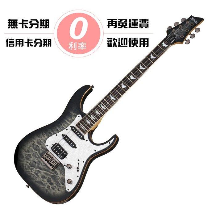 ☆唐尼樂器︵☆分期免運 Schecter Banshee-6 Extreme 漸層炭色雲紋 無搖座 電吉他