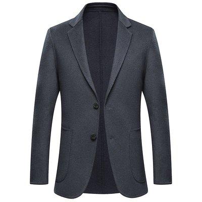 毛呢大衣 西裝外套-短款休閒純色翻領男外套3色73wk19[獨家進口][米蘭精品]