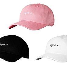 { POISON } LESS a good L. BALL CAP 小刺繡字樣 美國製棒球帽 彎沿老帽 agnes b