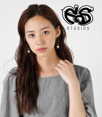 宏美飾品館~【EOS STUDIO】日本原單M*ussy M牌原單 復古做舊星星耳環