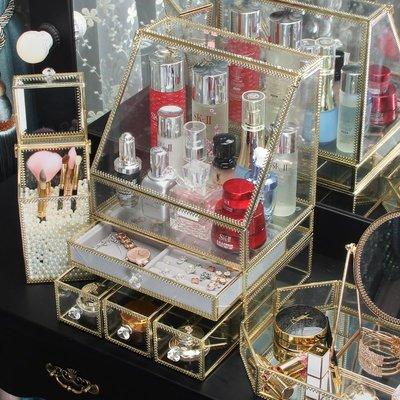 Ordinary shopins網紅化妝品收納盒家用歐式簡約梳妝臺桌面護膚品口紅刷置物架 彩妝用具 小仙女必備