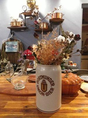 【Antique Home 古董家】『✩多特蒙德聯盟紀念啤酒罐(大)✩歐洲古董老德國✩傘架/雨傘桶/乾燥花器/垃圾桶高30cm✩』Made in Germany
