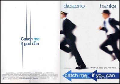 X~西洋電影[神鬼交鋒Catch Me If You Can]湯姆漢克斯.李奧納多狄卡皮歐-日本原版電影場刊