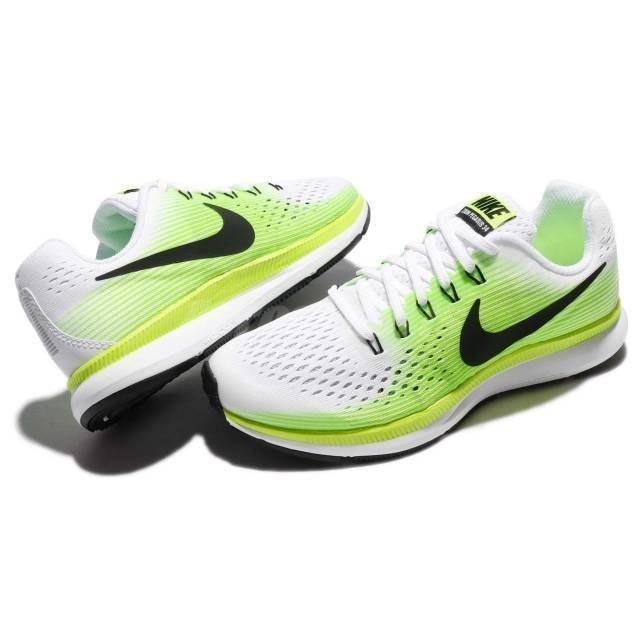 brand new 61385 7a117 S.G Nike Air Zoom Pegasus 34 GS 白綠色大童跑步鞋881953-100 | Yahoo奇摩拍賣