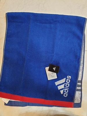 《Amy's shop》日本直購~日本愛迪達logo純棉毛巾(藍/黑)~現貨