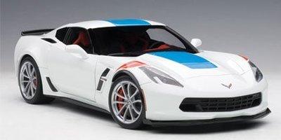 AUTOart 1/18 雪佛蘭 CORVETTE GRAND SPORT (白/藍飾紋/RED FENDER HASH