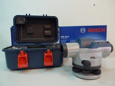 [測量儀器量販店]德國BOSCH   GOL32D 水平儀/水準儀 附腳架及箱尺