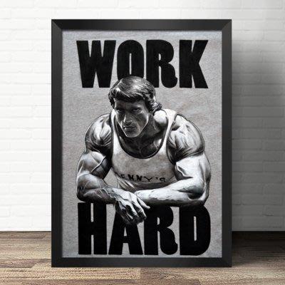 健身房裝飾畫深蹲書房州長肌肉勵志海報貼掛畫定做阿諾施瓦辛格