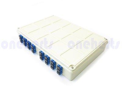 ABS 24口塑鋼壁掛式光纖終端盒 全配 可以搭配SC FC LC 耦合器及豬尾巴 終端盒 末端盒 光纖盒 通信器材
