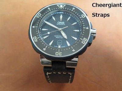Oris復古牛皮錶帶也可訂各廠牌手錶的類似錶帶款式Cheergiant straps巧將手工錶帶