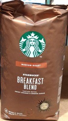 !costco代購 #614575 STARBUCKS 星巴克 早餐綜合咖啡豆 1.13公斤*