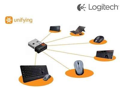 羅技 Unifying 接收器 無線 滑鼠 鍵盤 一對多 連線 2.4 GHz USB Logitech 軌跡球 電競