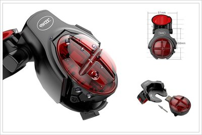 酷榮單車007111◇TWOOC【USB充電】警示燈 + 煞車燈