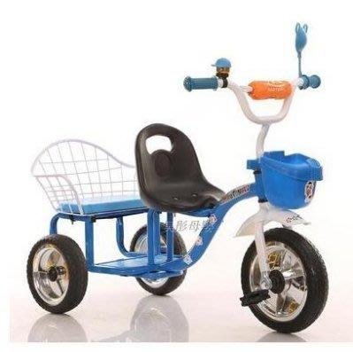 【易發生活館】兒童三輪車 小孩腳踏車雙人童車玩具車雙胞胎男女寶寶自行車