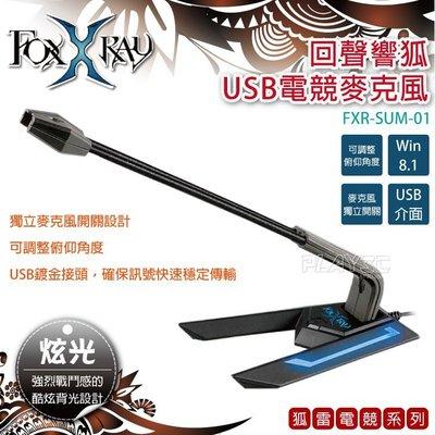 廣鼎FOXXRAY【回聲響狐】USB電競炫光麥克風 單指向設計靈敏收音/高效抗噪 台灣原創品牌 一年保固 ➔PLAY3C