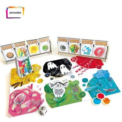 桌遊 益智遊戲 卡片遊戲 親子遊戲 指尖桌遊THE COLOR MONSTER (我的情緒小怪獸) 新品兒童益智桌游語言訓練