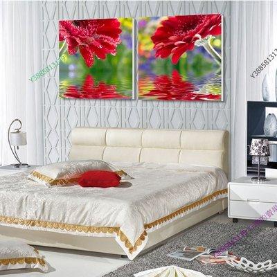 【50*50cm】【厚2.5cm】浪漫紅花-無框畫裝飾畫版畫客廳簡約家居餐廳臥室牆壁【280101_375】(1套價格)