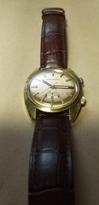 瑞士原裝芝伯(G P)1950年代.原裝龍頭.代用錶帶.手動上鏈鬧鈴男錶