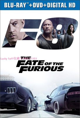 Lucky 1of1收藏0711正版The Fate of the Furious 速度與激情8 2D 藍光碟英字美