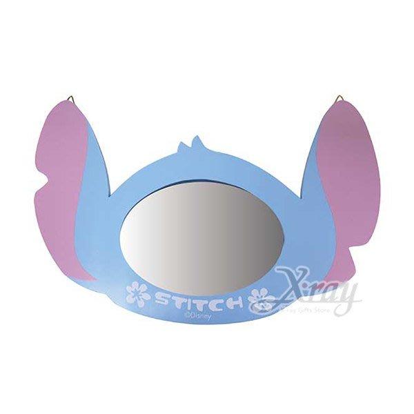 X射線【C526276】史迪奇stitch 頭型鏡,鏡子/方鏡/化妝鏡/桌上鏡/隨身鏡/摺疊鏡