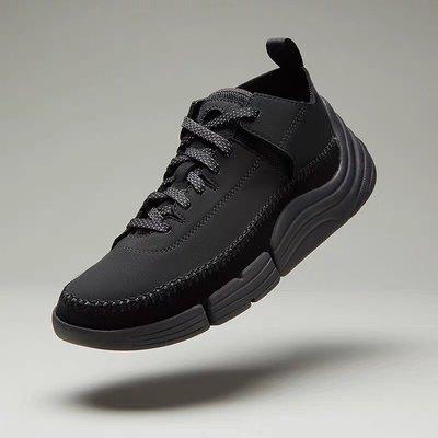 clarks/其樂三瓣四代運動休閒老爹鞋Trigenic Rev 超輕休閒鞋 黑色 39-44碼(偏大一碼)