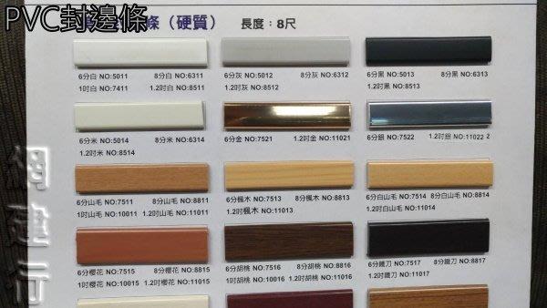 ☆ 網建行 ㊣ PVC美耐封邊條 硬質【長度8尺】【素色】6分 8分 1.2吋 厚度3.8mm 每支51元起