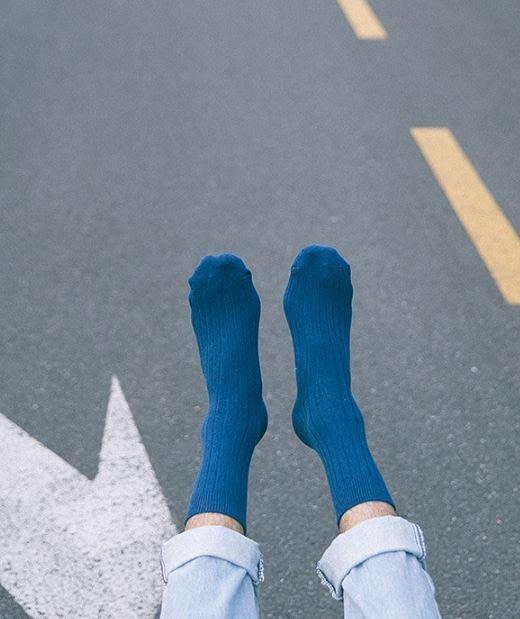 【NoComment】質感簡約 素色百搭 中長復古純棉襪 十色 五雙400
