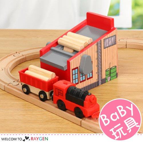 八號倉庫 積木小火車組合玩具 伐木場場景配件 上貨機器【1E011M882】