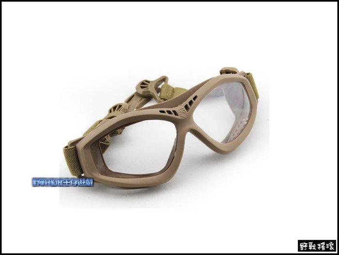 【野戰搖滾-生存遊戲】FAST 戰術頭盔專用護目鏡【沙色、黑色】護目鏡FAST盔戰術頭盔眼鏡運動風鏡
