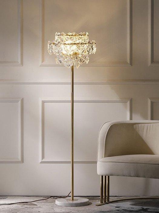 【名揚】後現代美式輕奢全銅落地燈簡約臥室客廳書房奢華公主裝飾燈具