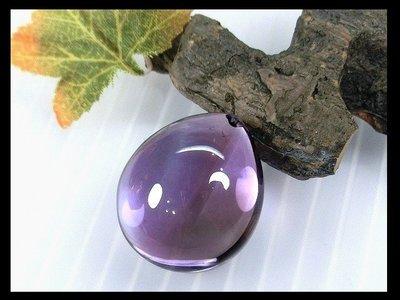 □§Disk的天然水晶§□【稀有珍藏】寶石級紫水晶圓水滴墜GL-03~全館滿千9折+超取免運