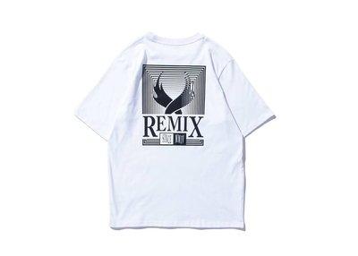 REMIX '17 S/S REMIX GRATING TEE [ 白 / 粉紅 ] (非 Jordan Nike