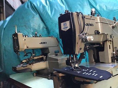 工業縫紉機 日本制 JUKI 780 鎖眼機+釘釦機,全自動開釦眼車(付全新桌板)