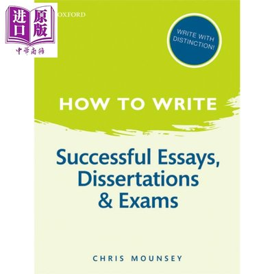 How to Write 英文原版 如何寫作 成功的論文 學位論文和考試 牛津寫作指南 Chris Mounsey