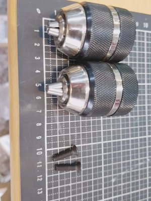 2組-金屬殼(黑色)3分快速自動夾頭(三分三爪夾頭)(有鎖定功能) , 適用換於一般3分電鑽與四分震動電鑽  有鎖定功能...