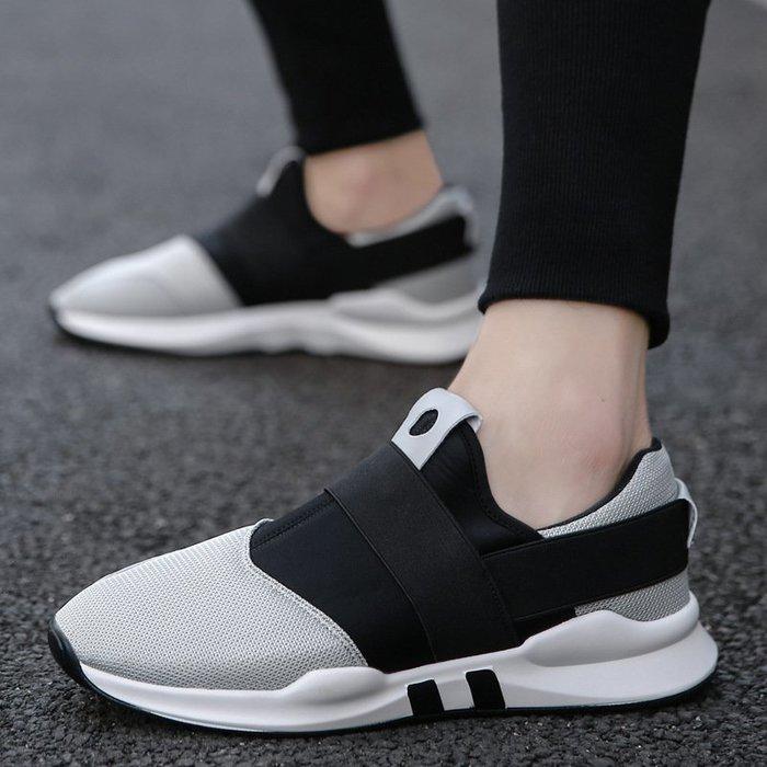 時尚男鞋輕便網面男鞋爆款男士休閑運動鞋韓版百搭跑步鞋
