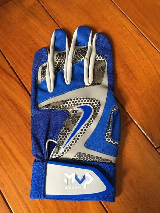 全新 NIKE MVP ELITE 職業用 義大犀牛球員版支給 灰 藍 迷彩 打擊手套 左手單支 已絕版
