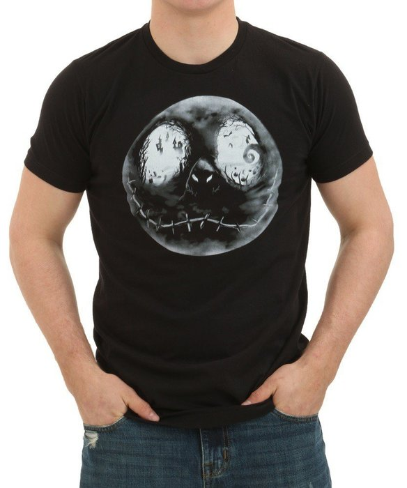 NIGHTMARE BEFORE CHRISTMAS JACK MOON FACE T-SHIRT
