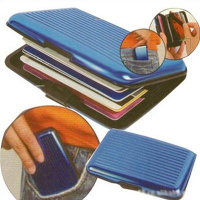 ☜shop go☞ 零錢包 卡片 硬殼 防消磁 防水  名片夾 卡夾 信用卡包 名片盒銀行卡盒 鋁合金卡片包【J059】